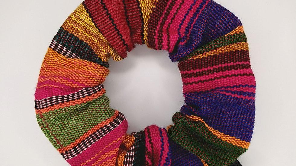Guatemalan colorful Scrunchie