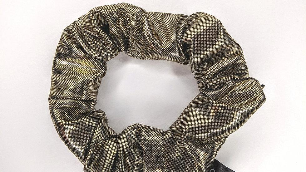 Dark metallic gold scrunchie