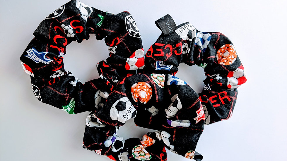Black soccer scrunchies