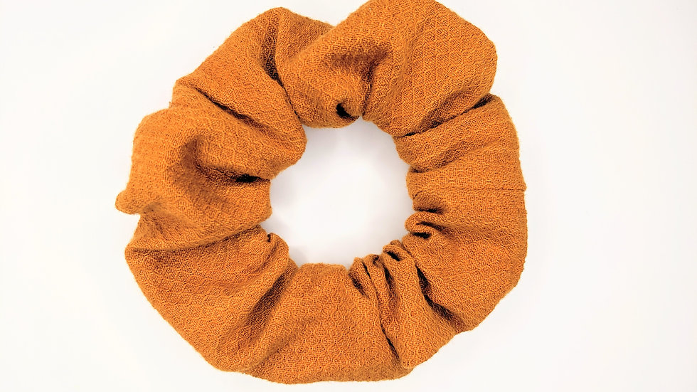 Tangerine textured scrunchie