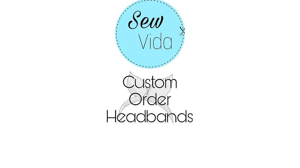 Custom order bow headbands