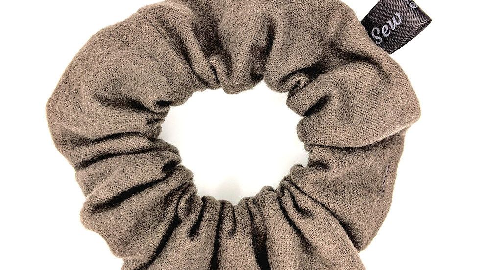 Soft, dark gray scrunchie
