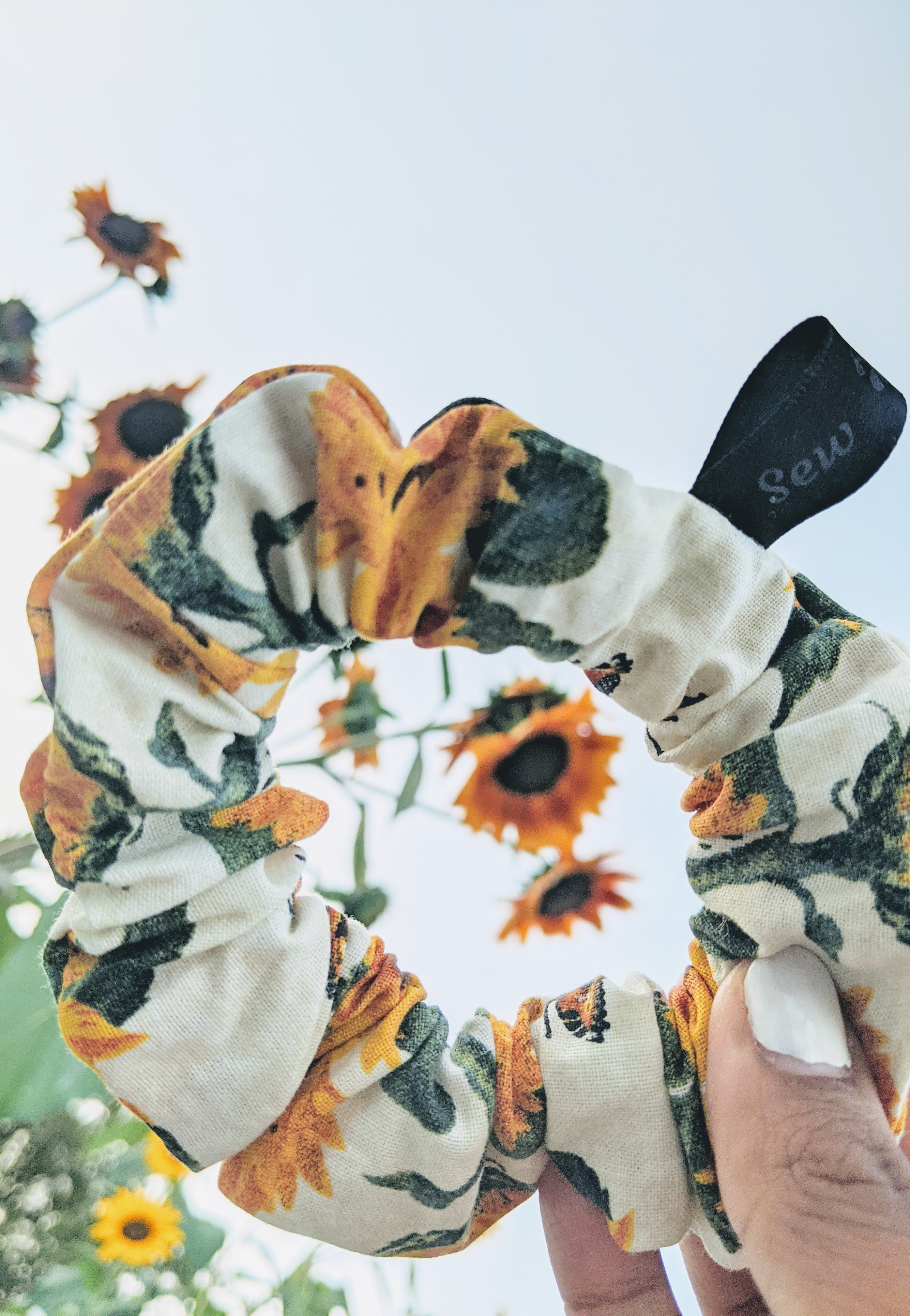 Sunflower scrunchie