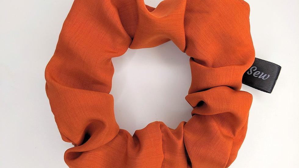 Soft orange scrunchie