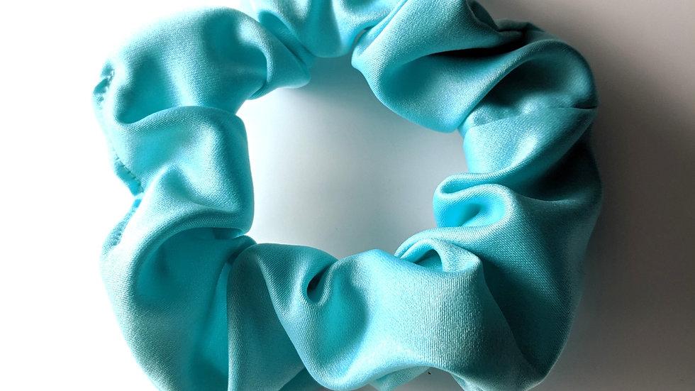 Aqua blue scrunchie