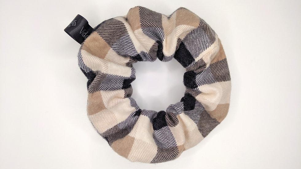 Brown plaid scrunchie