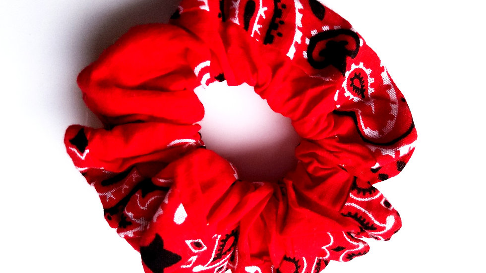 Red handkerchief scrunchie