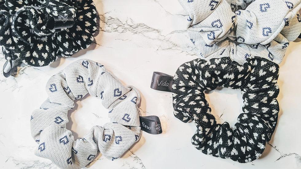 Heart scrunchies