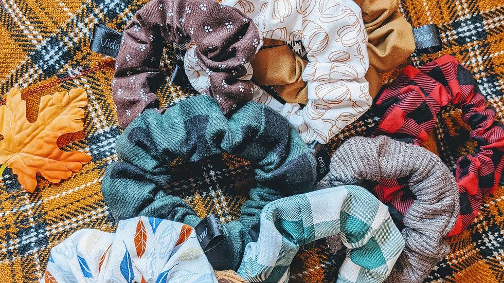 Fall scrunchies