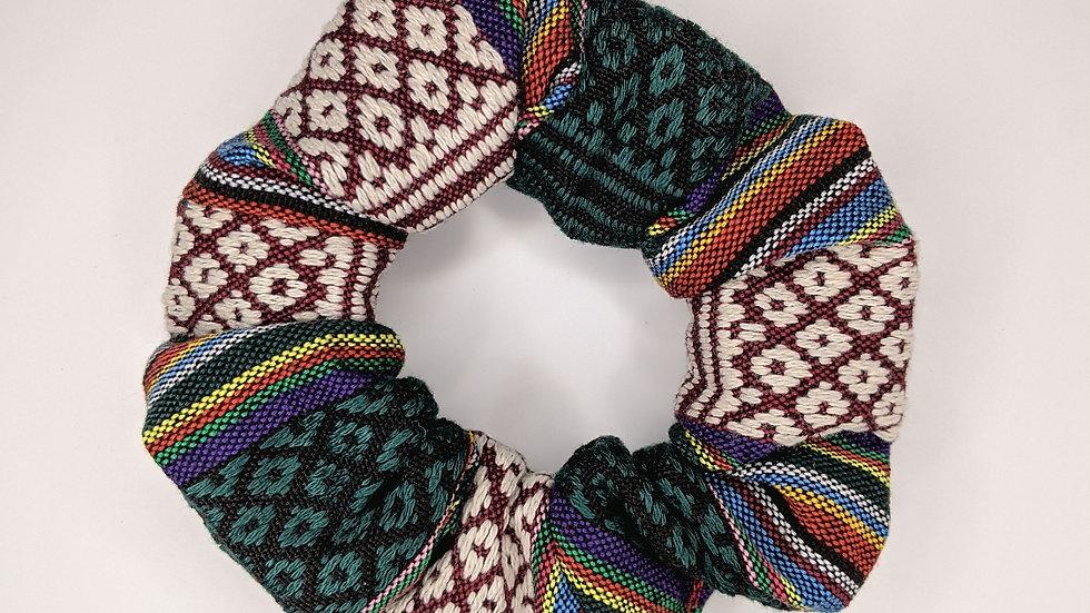Dark shaded Guatemalan scrunchie
