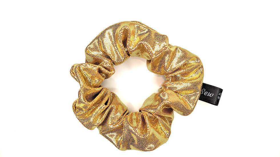 Gold shimmer scrunchie