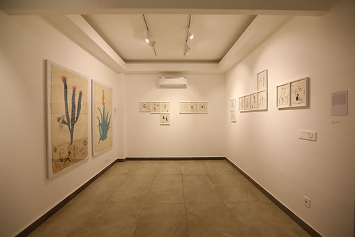 Exhibition view of 'Caressing History: Draft for a Body-based Historiography' curated by Adwait Singh.