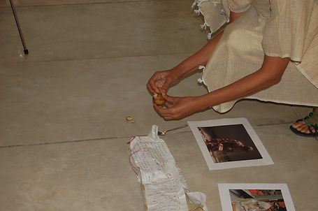 Still from Smitha Cariappa's performance 'Cloth: The Second Skin' as part of the exhibition 'Caressing History' curated by Adwait Singh.