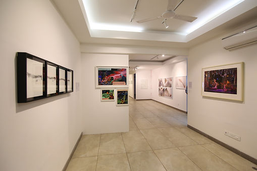 Exhibition view of 'Caressing History' curated by Adwait Singh.
