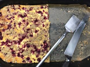 Käse-Himbeer-Streusel
