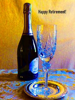 Happy Retirement Card Bottle_Glass Color
