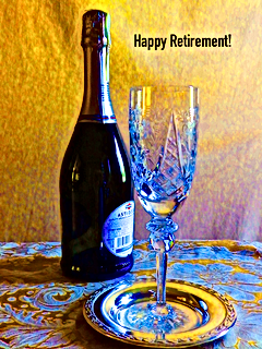 Happy Retirement Card Bottle_Glass Color