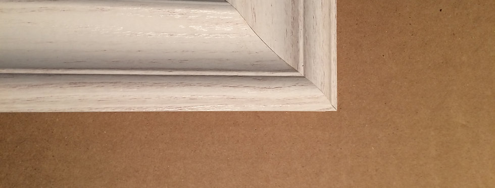 """""""Whitewashed"""" Wall frame, off-white"""