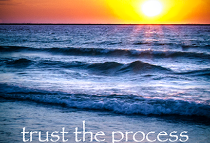 """Trust the Process sunset"" Fine Art Color Photograph"