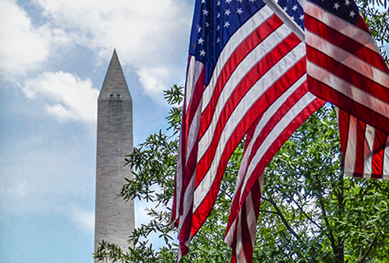 Monument Flag Trio Photo Print
