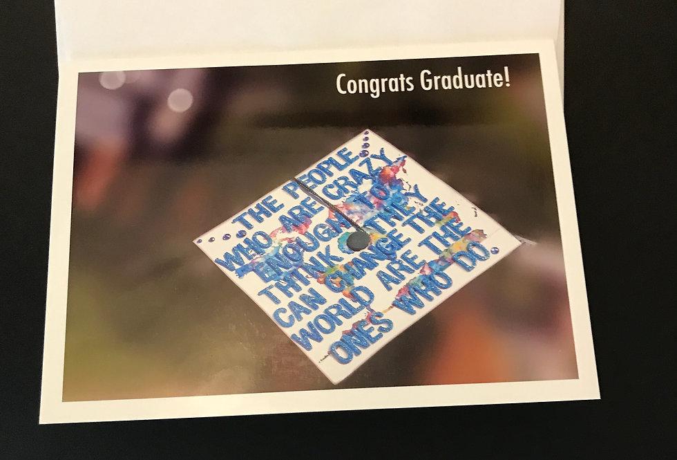 """Greeting Card 5X7"""" (A7) - Graduate"""
