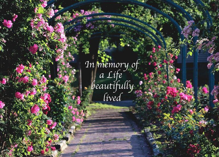 Rose Garden Arches Card