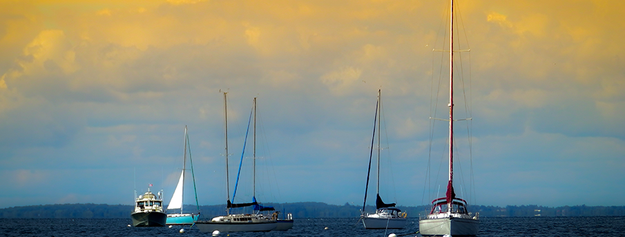 """Henderson Harbor Sailboats"" Fine Art Photograph"