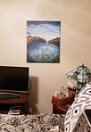 Example of Healing Reservoir hanging on a bedroom wall. Canvas print.