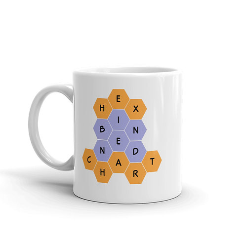 Dataviztypography - Hex Binned Chart (color) - Mug