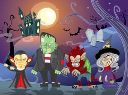 Cran halloween Card
