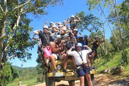 Ziplining squad