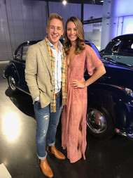 Andrew Evans and Mackenzie Shively at BMW Factory