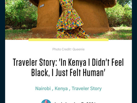 """In Kenya I Didn't Feel Black, I Just Felt Human"""