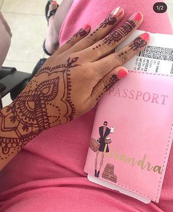 LV shopping Passport Cover