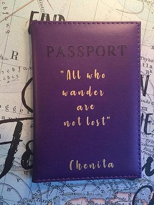 Custom Quote Passport Cover