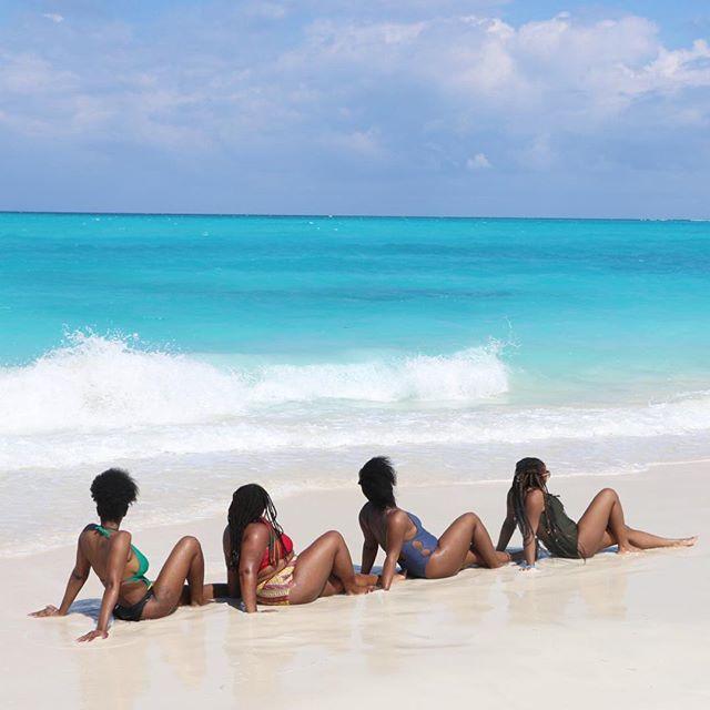 📍Grace Bay Beach_ Melanin poppin and co