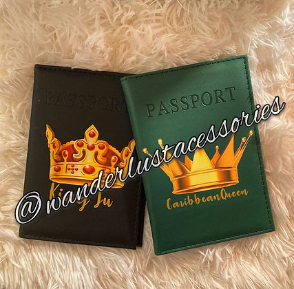 Royalty- His&Hers Passport Covers