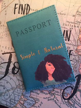 Curly Fro Passport Cover