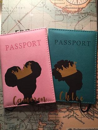 Little Black Queen Passport Cover