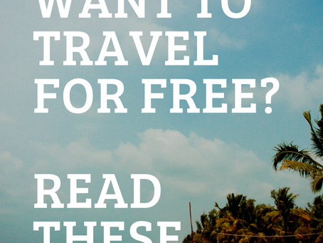 Want To Travel For Free? Heres How! PT. 1