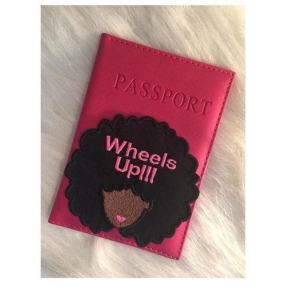 Custom Afro Girl Passport cover