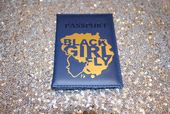 Black Girl Fly Passport Cover