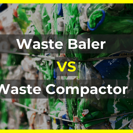 What are the differences between a waste baler and a waste compactor?