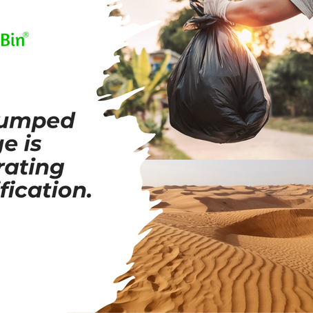 Your dumped garbage is accelerating desertification