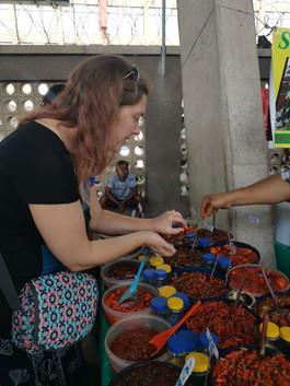 Tasting Indian Pickles @ The Bangladesh Market