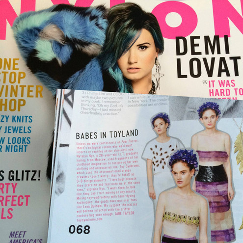 Natalya'sToy Syndrome collectionfeatured in Nylon Magazine