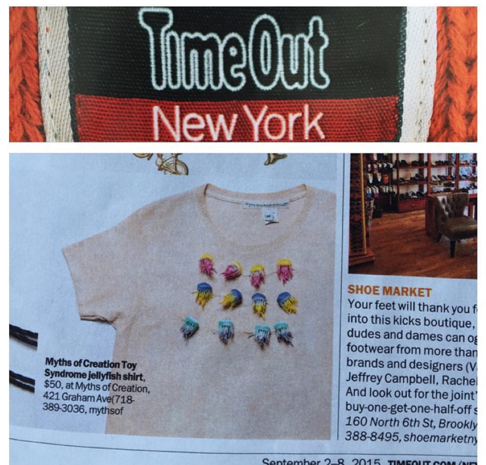 3D Jellyfish crop shirt featured in Time Out Magazine