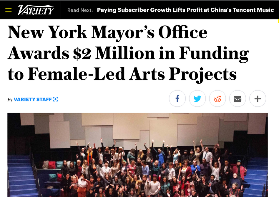 Natalya was the NYC Women's Fund recipientfor 'Women Funny?' in 2020 published in Variety