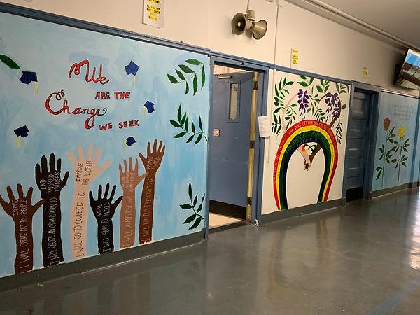 social justice mural, mural, student mur
