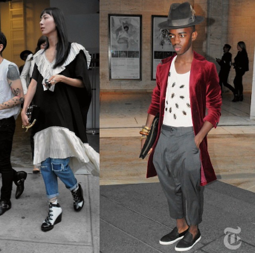 3D Cockroach Crop Shirt worn by Roberto Johnson in the New York Times Style Section, shot by Bill Cunningham